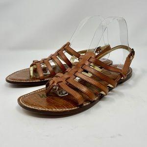 Sam Edelman Hamilton Brown Leather Strappy Sandals